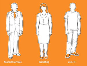 Be careful about what you wear to work.  Many businesses have a dress code