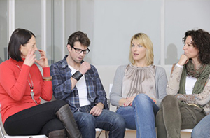 Support groups enable you to meet with other people who are having similar problems.