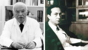 Jeanne Delay and Pierre Deniker: psychiatrists at the Sainte-Anne mental hospital in Paris, who first used the new antipsychotic drug chlorpromazine in psychiatry to treat schizophrenia.