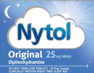 Nytol is one of the sedating antihistamine sleeping medicines and is available over-the-counter from chemists.