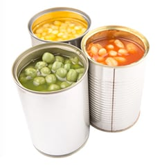 Keep a small stock of tinned and dried food in case you aren't able to get out to the shops.