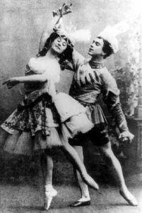 Nijinsky dancing with Anna Pavlova.