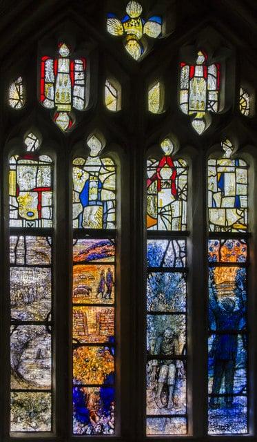 Ivor Gurney Memorial Window in Gloucester Cathedral, UK.